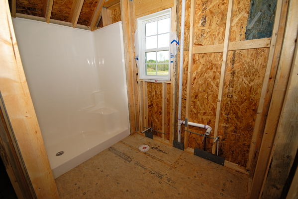 New Construction for Sale - 901 Braswell Rd. - Goldsboro NC - Unfinished Bonus Room Bathroom