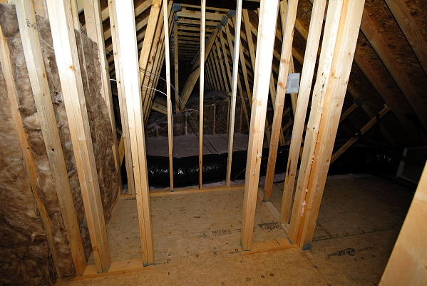 New Construction for Sale - 901 Braswell Rd. - Goldsboro NC - Unfinished Bonus Room Closet